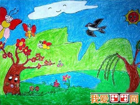儿童蜡笔画之绿色家园 6