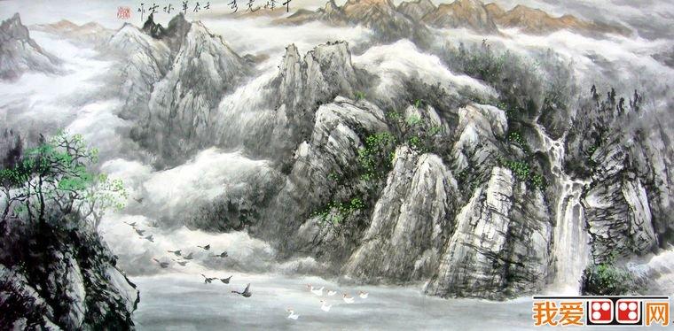 中国书画网国画-中国画知识 山水画的基本规律