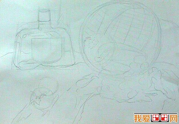 水彩画教程:水果和酒瓶静物水彩画教程