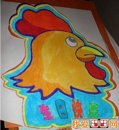 可爱的小鸡儿童绘画