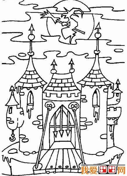 简笔画:建筑物简笔画作品欣赏_51自学教程网