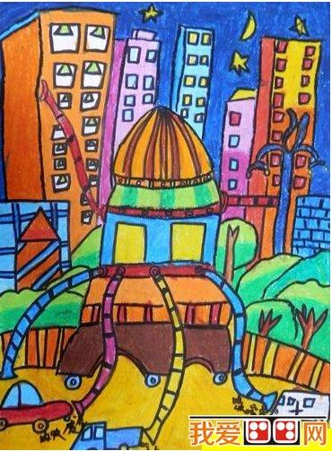 > 神奇的清洁器儿童科幻画作品欣赏      儿童科幻 绘画,是少年儿童在图片
