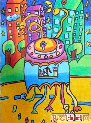 清洁器儿童科幻画作品欣赏 2