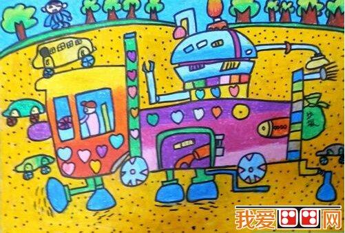 科幻画 > 神奇的清洁器儿童科幻画作品欣赏(2)      接下来这个是城市