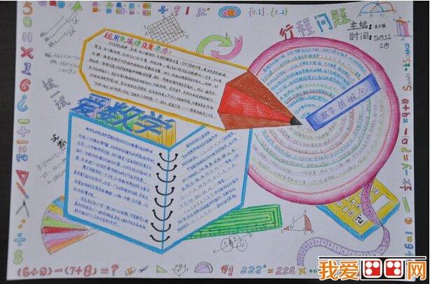 数学科目优秀手抄报作品欣赏(2)
