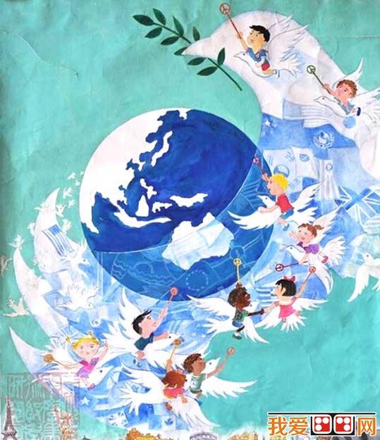和平主题儿童水彩画优秀作品欣赏(3)