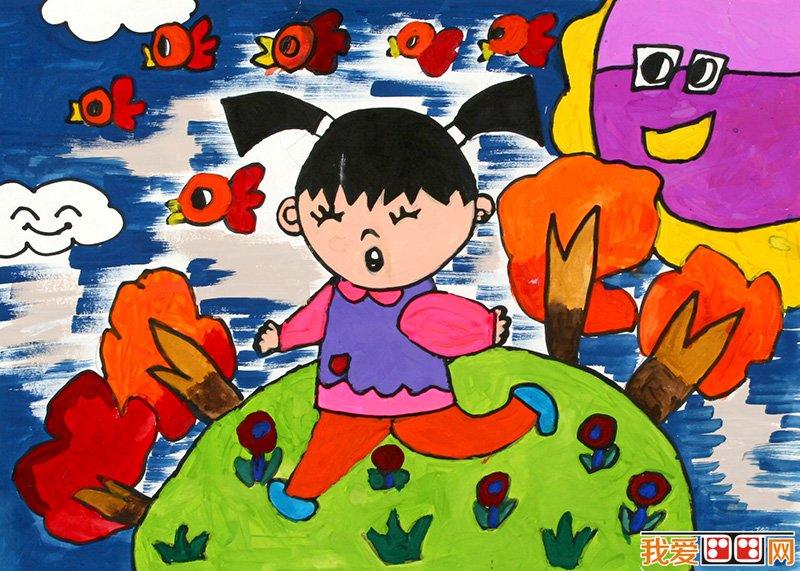 儿童水粉画:快乐的一天儿童水粉画作品欣赏图片
