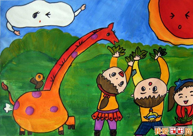 画画 儿童画教程 儿童水粉画 > 儿童水粉画:快乐的一天儿童水粉画作品
