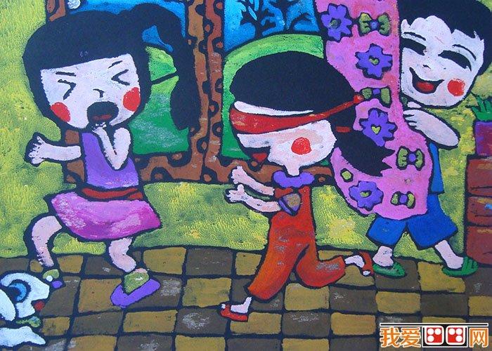 儿童水粉画:快乐的一天儿童水粉画作品欣赏(2)
