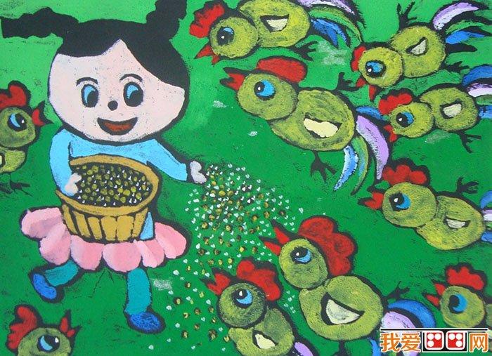 儿童水粉画:快乐的一天儿童水粉画作品欣赏(3)图片