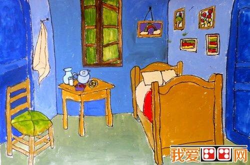 儿童水粉画:我的房间儿童水粉画作品欣赏(2)