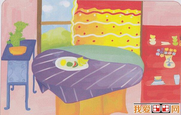 儿童画整理房间和衣物_房间儿童水粉画作品