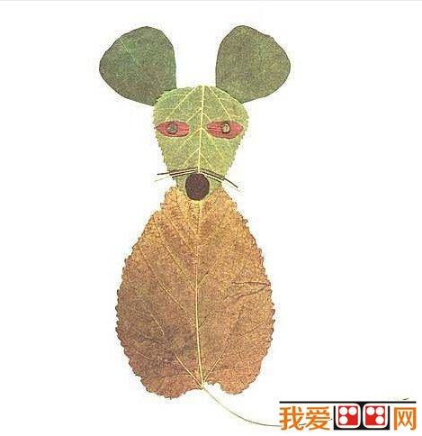 儿童画 树叶贴画作品欣赏 3