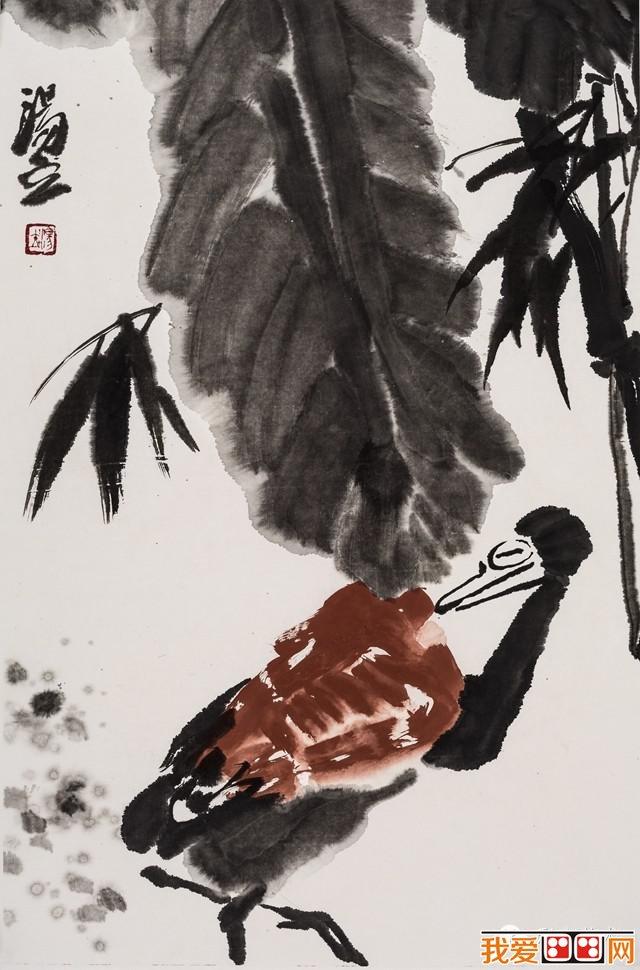 汤立写意花鸟画作品欣赏 5