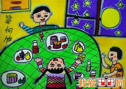 中秋节主题儿童画作品欣赏