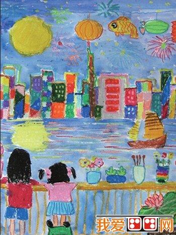 中秋节主题儿童画作品欣赏 3