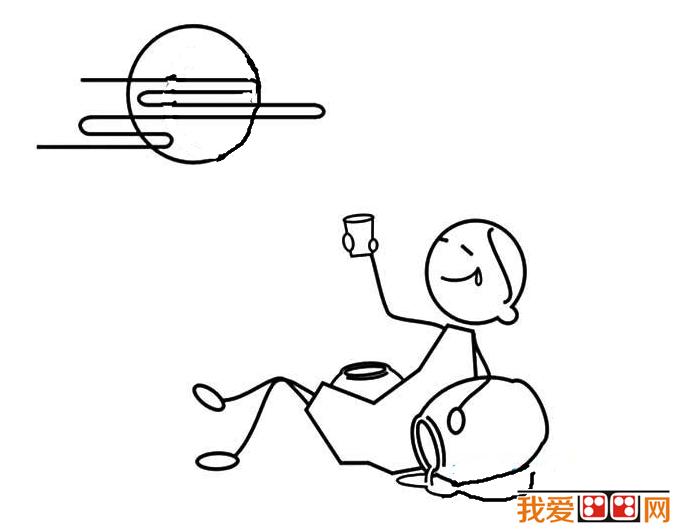 中秋节简笔画作品欣赏 3