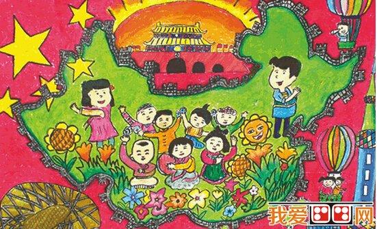 国庆节儿童画优秀作品欣赏