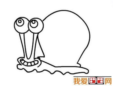 儿童简笔画教程 蜗牛简笔画步骤详解 3
