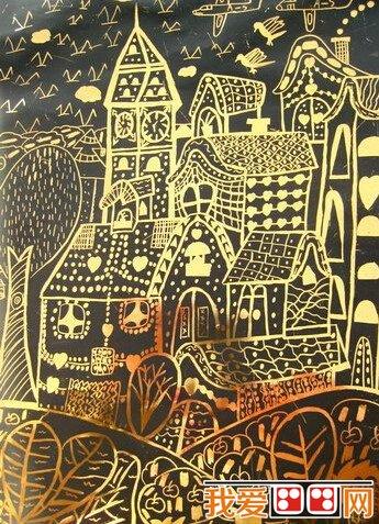 我的家乡儿童版画作品欣赏(2)