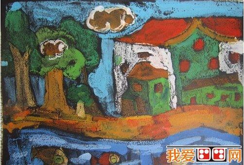 我爱画画     我的家乡儿童版画作品欣赏