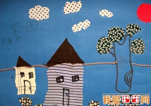 儿童手工diy粘贴画作品欣赏(2)