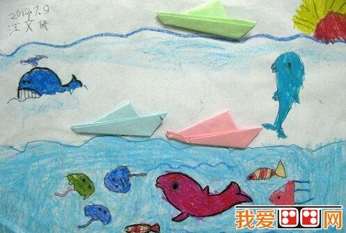 兒童手工diy粘貼畫作品欣賞(3)