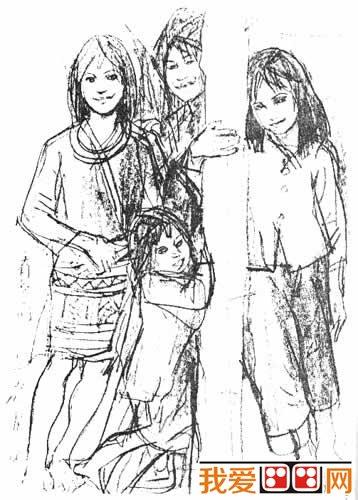 学画画 速写教程 速写图片 > 中国优秀人物速写作品欣赏(3)