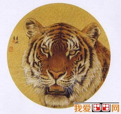 中国水墨画老虎头的画法与技巧