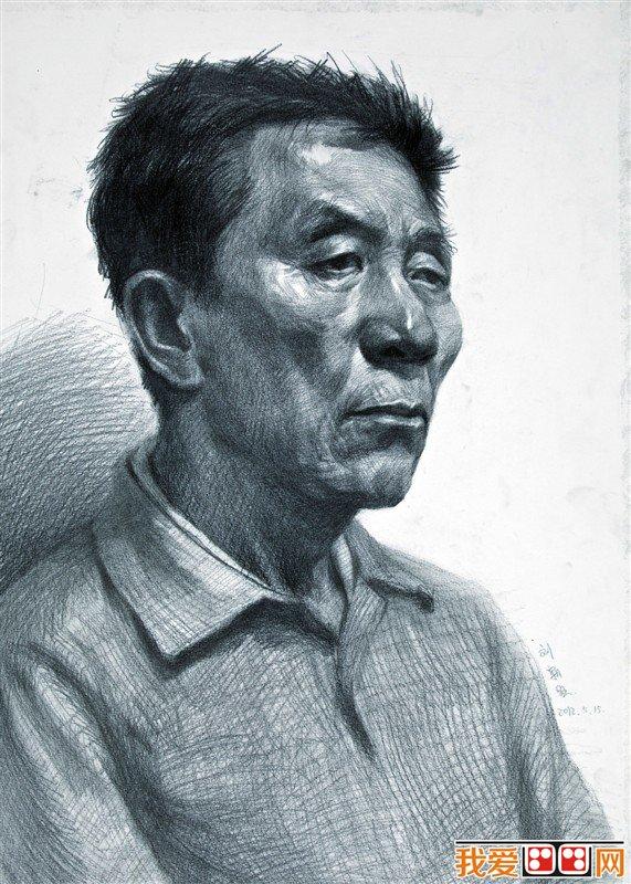 中年男性头像素描临摹作品欣赏(4)