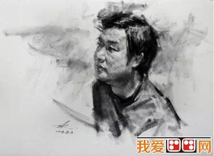 多面光源中年男性头像素描教程(4)