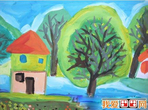 秋天儿童水彩画作品欣赏(4)