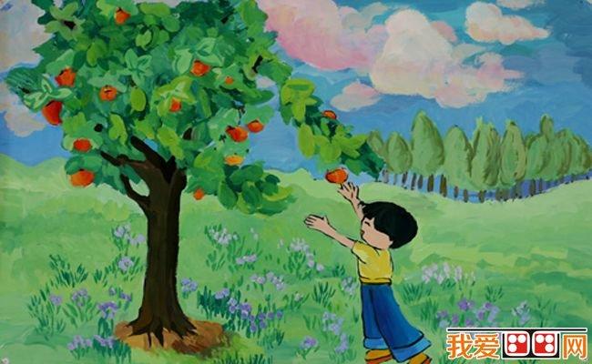 秋天儿童水彩画作品欣赏 6