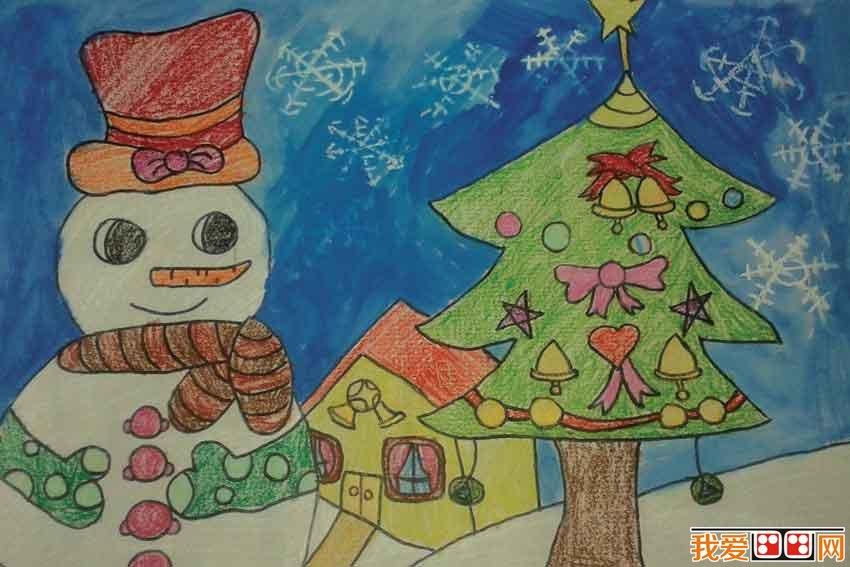 儿童画圣诞树优秀作品欣赏(6)