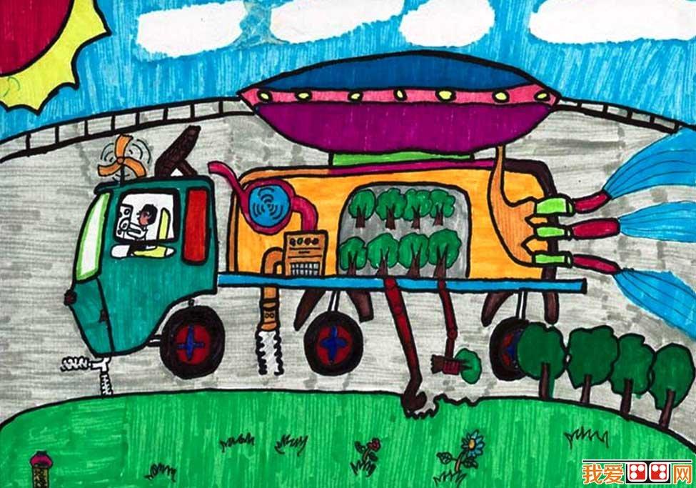 未来主题儿童科幻画优秀作品欣赏