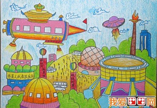 未来主题儿童科幻画优秀作品欣赏(6)