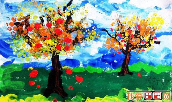 丰收的秋天儿童画作品欣赏 3