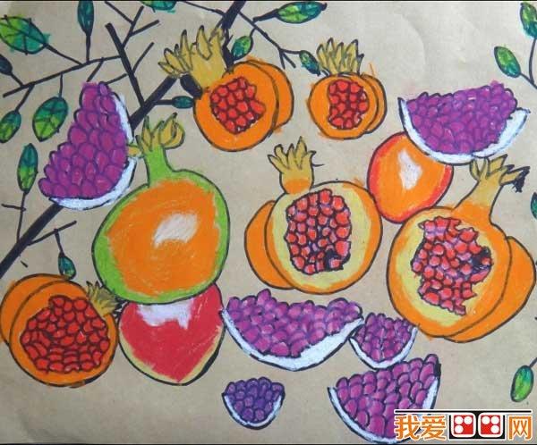 丰收的秋天儿童画作品欣赏 6