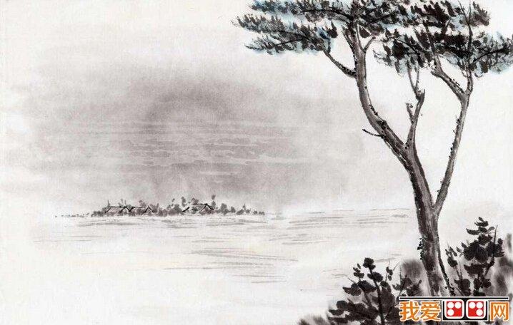 技法:山水画中树木的画法解析-中国画技法 山水画中树木画法解析