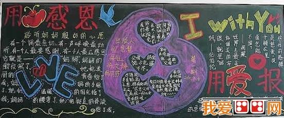 感恩节主题黑板报欣赏_儿童画教程_学画画_我爱画画网