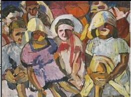 马列维奇绘画作品农民