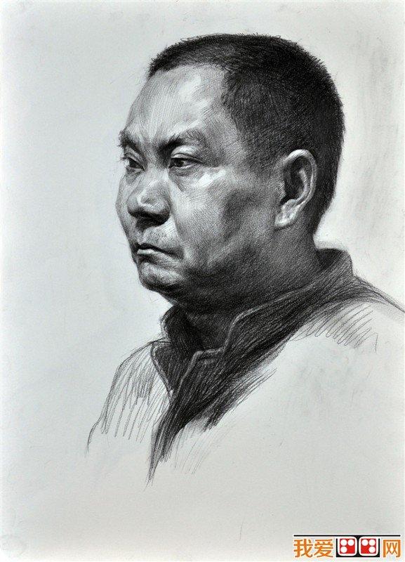 人物头像素描临摹优秀作品(2)