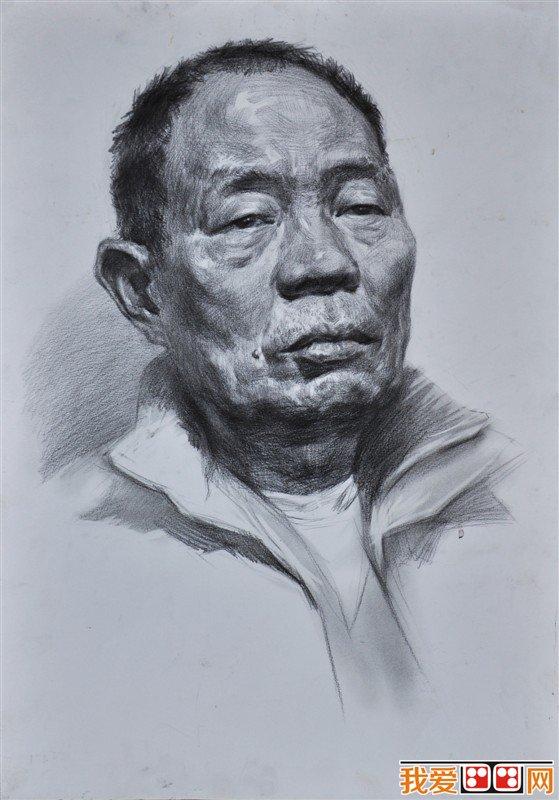 人物头像素描临摹优秀作品(3)