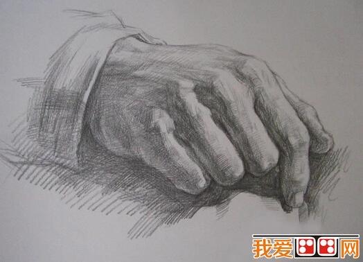 素描教程 素描手的方法和技巧 2图片