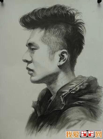 男青年侧面头像素描教程(2)