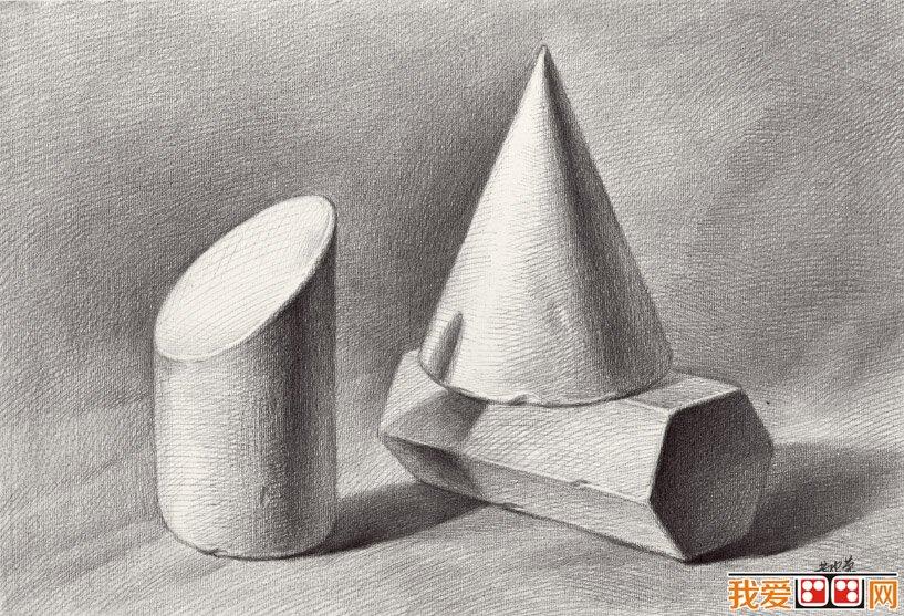 石膏几何体素描经常出现的问题及解决方法图片