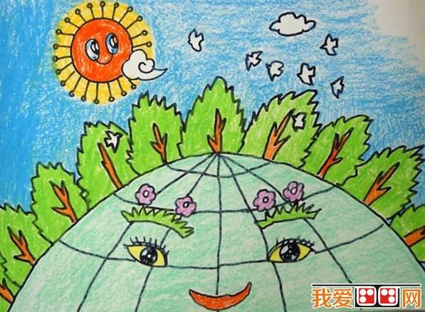 儿童画绿色家园作品欣赏(3)