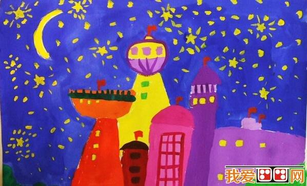 儿童水彩画烟花作品欣赏(3)