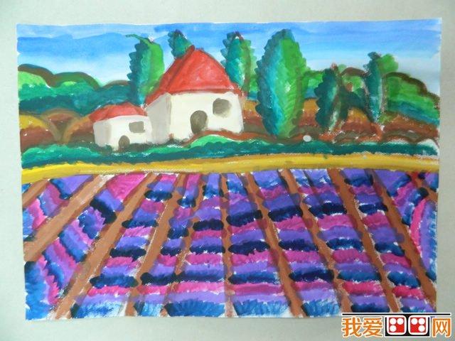 美丽的家乡儿童水粉画作品欣赏_儿童画教程_学画画_我