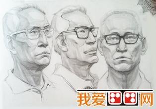 不同角度临摹素描头像-静物素描及素描头像临摹的六种方法